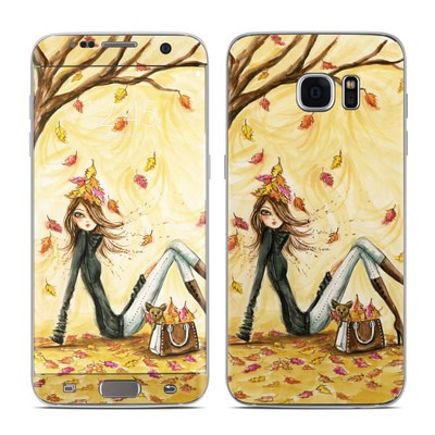 Samsung Galaxy S7 Edge Skin - Autumn Leaves