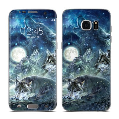 Samsung Galaxy S7 Edge Skin - Bark At The Moon