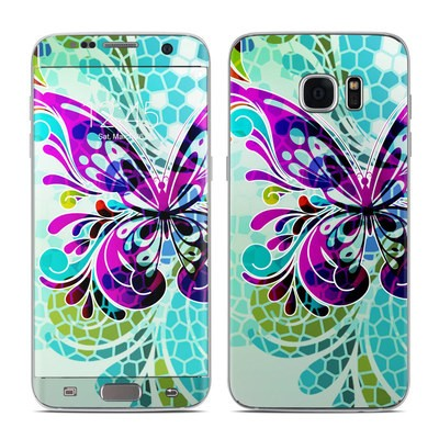 Samsung Galaxy S7 Edge Skin - Butterfly Glass