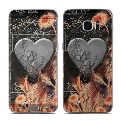 Samsung Galaxy S7 Edge Skin - Black Lace Flower