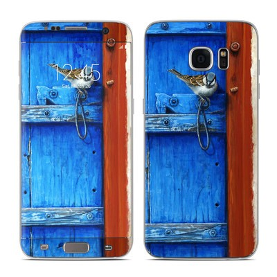 Samsung Galaxy S7 Edge Skin - Blue Door