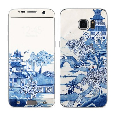 Samsung Galaxy S7 Edge Skin - Blue Willow