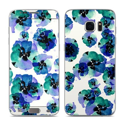 Samsung Galaxy S7 Edge Skin - Blue Eye Flowers