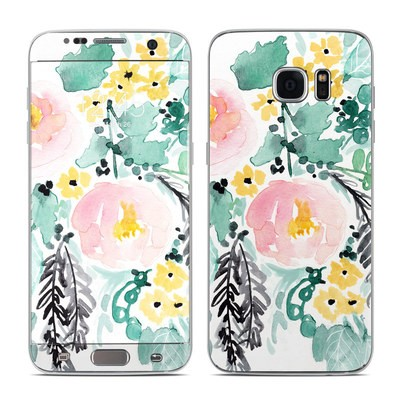 Samsung Galaxy S7 Edge Skin - Blushed Flowers