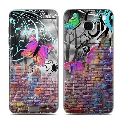 Samsung Galaxy S7 Edge Skin - Butterfly Wall