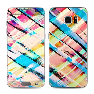 Samsung Galaxy S7 Edge Skin - Check Stripe