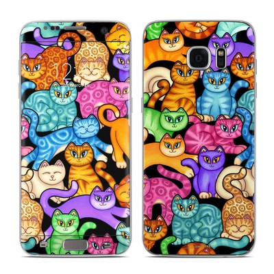 Samsung Galaxy S7 Edge Skin - Colorful Kittens