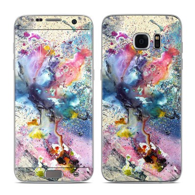 Samsung Galaxy S7 Edge Skin - Cosmic Flower