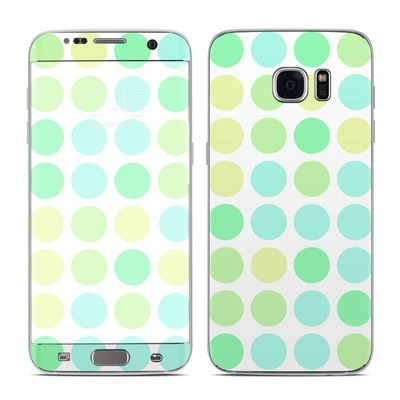 Samsung Galaxy S7 Edge Skin - Big Dots Mint