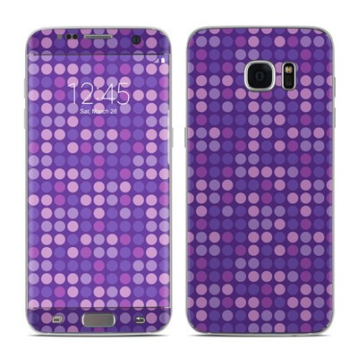 Samsung Galaxy S7 Edge Skin - Dots Purple