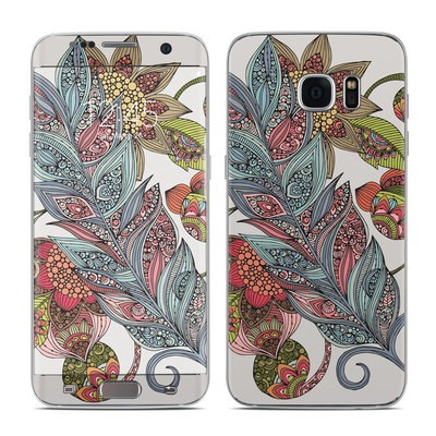 Samsung Galaxy S7 Edge Skin - Feather Flower