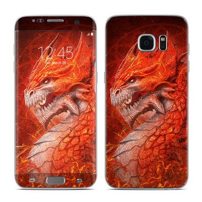 Samsung Galaxy S7 Edge Skin - Flame Dragon