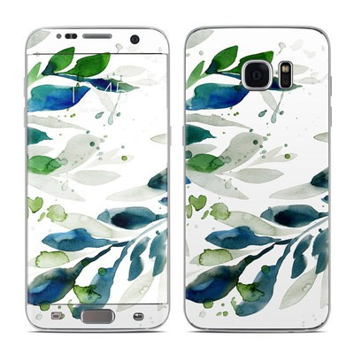 Samsung Galaxy S7 Edge Skin - Floating Leaves