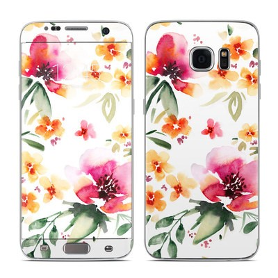 Samsung Galaxy S7 Edge Skin - Fresh Flowers