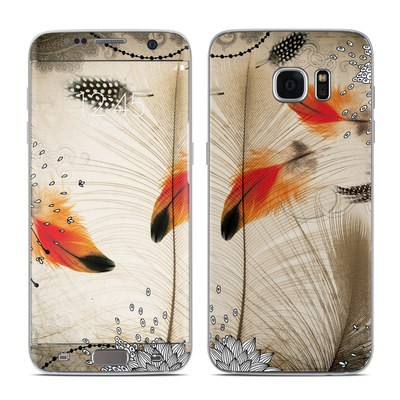 Samsung Galaxy S7 Edge Skin - Feather Dance
