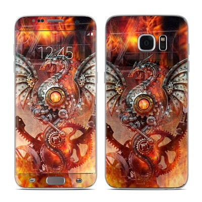 Samsung Galaxy S7 Edge Skin - Furnace Dragon