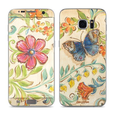 Samsung Galaxy S7 Edge Skin - Garden Scroll