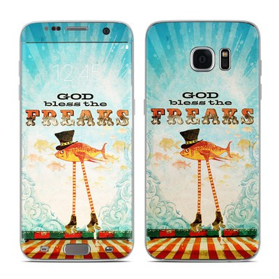 Samsung Galaxy S7 Edge Skin - God Bless The Freaks