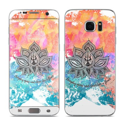 Samsung Galaxy S7 Edge Skin - Happy Lotus