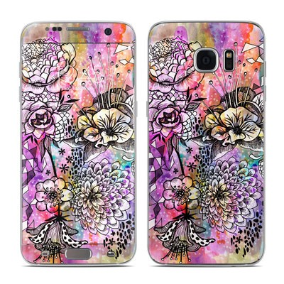 Samsung Galaxy S7 Edge Skin - Hot House Flowers