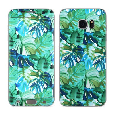 Samsung Galaxy S7 Edge Skin - Jungle Palm