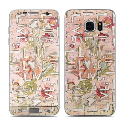 Samsung Galaxy S7 Edge Skin - Love Floral