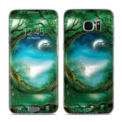 Samsung Galaxy S7 Edge Skin - Moon Tree