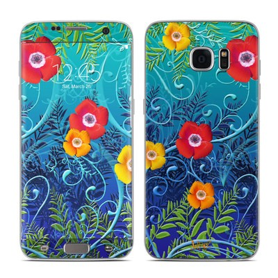 Samsung Galaxy S7 Edge Skin - Poppies