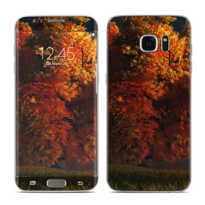 Samsung Galaxy S7 Edge Skin - Red and Gold