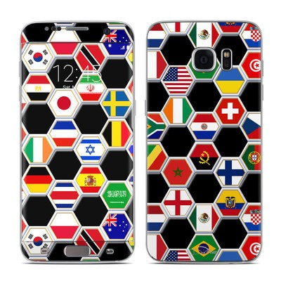Samsung Galaxy S7 Edge Skin - Soccer Flags