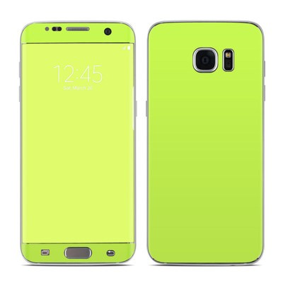 Samsung Galaxy S7 Edge Skin - Solid State Lime