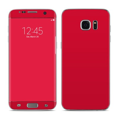 Samsung Galaxy S7 Edge Skin - Solid State Red