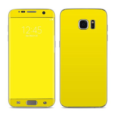 Samsung Galaxy S7 Edge Skin - Solid State Yellow