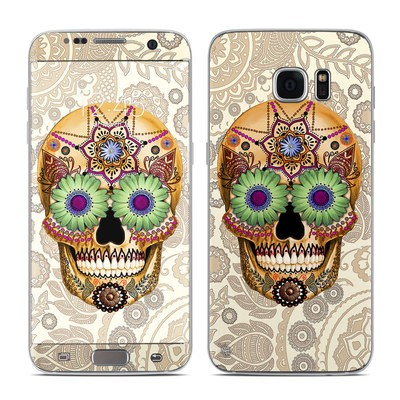 Samsung Galaxy S7 Edge Skin - Sugar Skull Bone