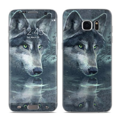Samsung Galaxy S7 Edge Skin - Wolf Reflection