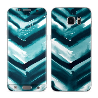 Samsung Galaxy S7 Edge Skin - Watercolor Chevron