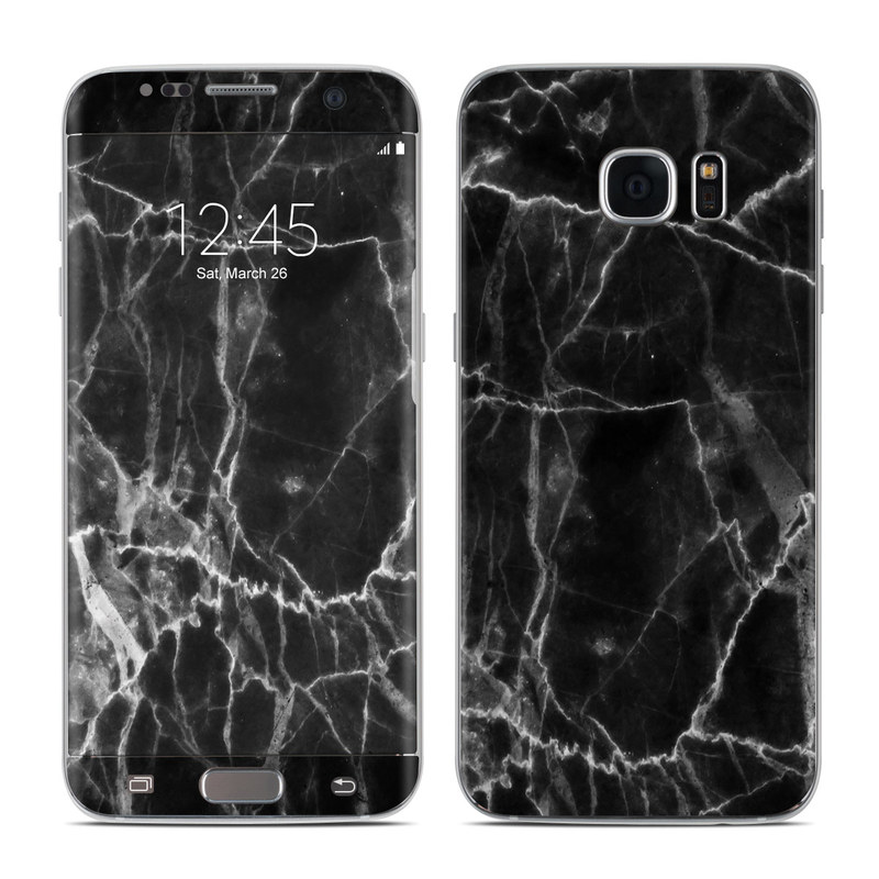 Samsung Galaxy S7 Edge Skin Black Marble By Marble