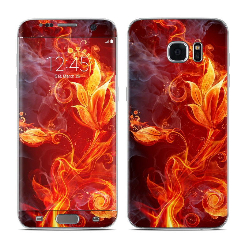 Samsung Galaxy S7 Edge Skin Flower Of Fire By Gaming