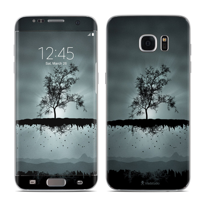 Samsung Galaxy S7 Edge Skin Flying Tree Black By Vlad