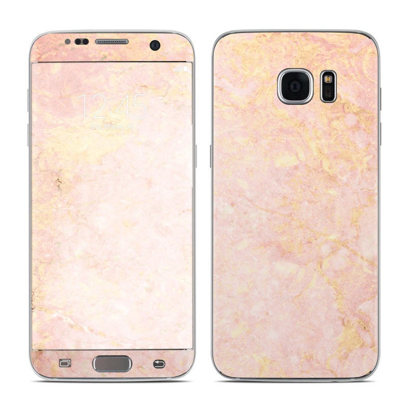 samsung galaxy s7 edge skin rose gold marble by marble collection decalgirl. Black Bedroom Furniture Sets. Home Design Ideas