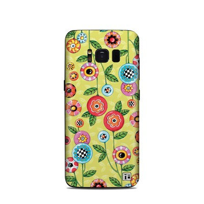 Samsung Galaxy S8 Skin - Button Flowers