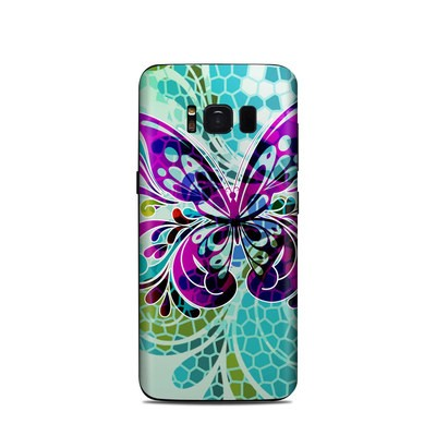 Samsung Galaxy S8 Skin - Butterfly Glass