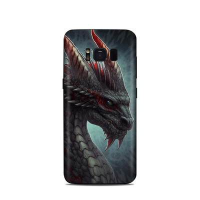 Samsung Galaxy S8 Skin - Black Dragon