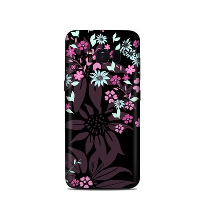 Samsung Galaxy S8 Skin - Dark Flowers