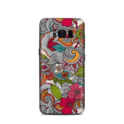 Samsung Galaxy S8 Skin - Doodles Color