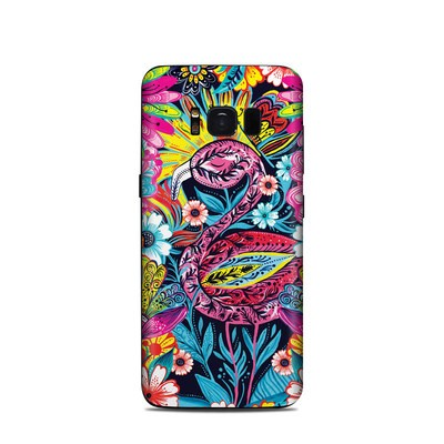 Samsung Galaxy S8 Skin - Flashy Flamingo