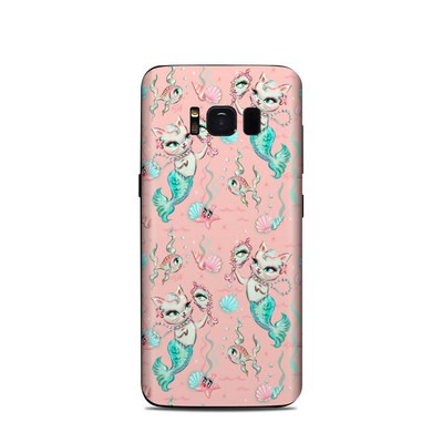 Samsung Galaxy S8 Skin - Merkittens with Pearls Blush