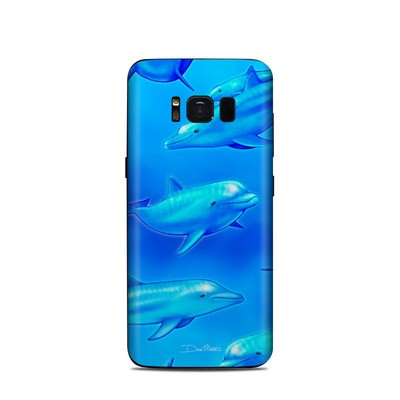 Samsung Galaxy S8 Skin - Swimming Dolphins