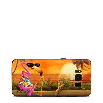 Samsung Galaxy S8 Skin - Sunset Flamingo