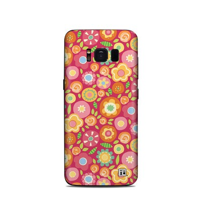 Samsung Galaxy S8 Skin - Flowers Squished